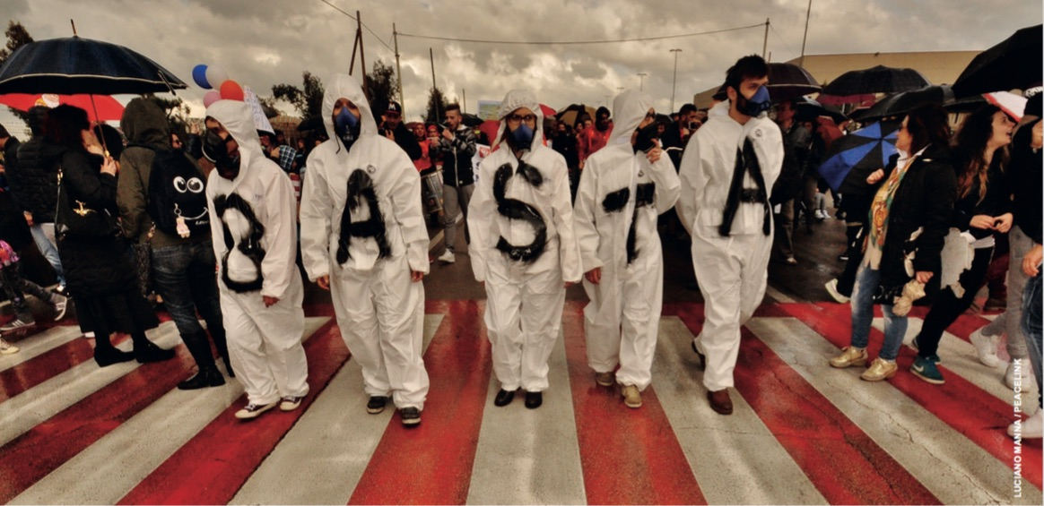 Demonstration against Ilva pollution.