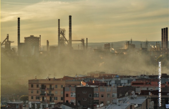 View of the Ilva in Taranto.