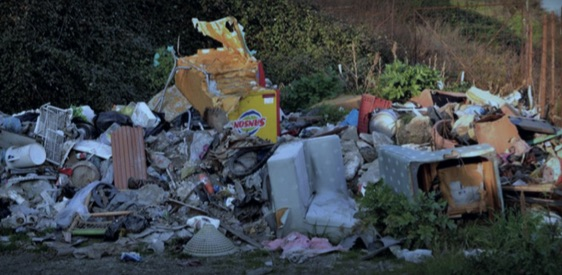 Landfill in the Province of Caserta